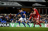 Ipswich Town's Will Keane scores his side's fourth goal <br /> <br /> Photographer Hannah Fountain/CameraSport<br /> <br /> The EFL Sky Bet League One - Ipswich Town v Accrington Stanley - Saturday 11th January 2020 - Portman Road - Ipswich<br /> <br /> World Copyright © 2020 CameraSport. All rights reserved. 43 Linden Ave. Countesthorpe. Leicester. England. LE8 5PG - Tel: +44 (0) 116 277 4147 - admin@camerasport.com - www.camerasport.com