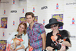 """Kerry Butler - Aaron Tveit - Linda Hart - Broadway Barks Lucky 13th Annual Adopt-a-thon - A """"Pawpular"""" Star-studded dog and cat adopt-a-thon on July 9, 2011 in Shubert Alley, New York City, New York with Bernadette Peters and Mary Tyler Moore as hosts.  (Photo by Sue Coflin/Max Photos)"""