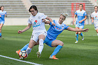 Bridgeview, IL - Saturday April 22, 2017: Desiree Scott, Julie Ertz during a regular season National Women's Soccer League (NWSL) match between the Chicago Red Stars and FC Kansas City at Toyota Park.