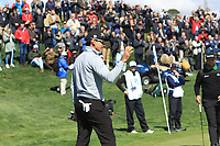 Rafa Cabrera Bello (ESP) on the 4th green during Round 1 of the Open de Espana 2018 at Centro Nacional de Golf on Thursday 12th April 2018.<br /> Picture:  Thos Caffrey / www.golffile.ie<br /> <br /> All photo usage must carry mandatory copyright credit (&copy; Golffile | Thos Caffrey)