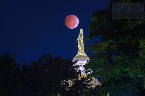 "Oct. 8, 2014; Lunar eclipse, also referred to as a ""Blood Moon."" (Photo by Matt Cashore/University of Notre Dame)"