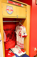 Harrison, NJ - Thursday March 01, 2018: New York Red Bulls Locker room. The New York Red Bulls defeated C.D. Olimpia 2-0 (3-1 on aggregate) during a 2018 CONCACAF Champions League Round of 16 match at Red Bull Arena.