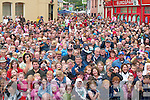 The large crowd that gathered for the crowning of King Puck in Killorglin on Friday evening..
