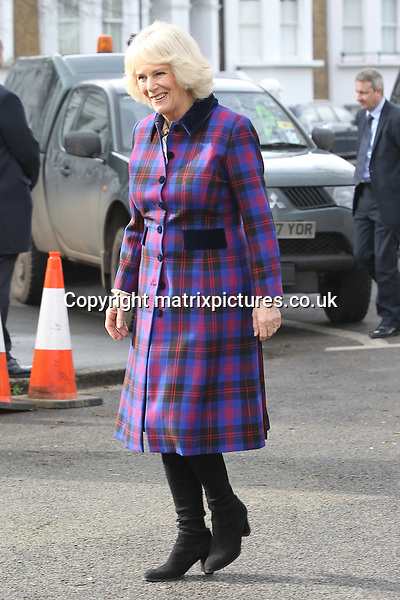 NON EXCLUSIVE PICTURE: MATRIXPICTURES.CO.UK<br /> PLEASE CREDIT ALL USES<br /> <br /> WORLD RIGHTS<br /> <br /> The Duchess of Cornwall visits the Ebony Horse Club to celebrate the club's 21st anniversary in Brixton, London.<br /> <br /> FEBRUARY 16th 2017<br /> <br /> REF: MTX 17337