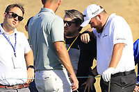 Shane Lowry (IRL) chats with his buddies at the 6th tee during Saturday's Round 3 of the Waste Management Phoenix Open 2018 held on the TPC Scottsdale Stadium Course, Scottsdale, Arizona, USA. 3rd February 2018.<br /> Picture: Eoin Clarke | Golffile<br /> <br /> <br /> All photos usage must carry mandatory copyright credit (&copy; Golffile | Eoin Clarke)