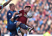 02/05/16 Sky Bet League Championship  Burnley v QPR<br /> Stephen Ward challenged by Sebastian Polter