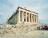 GREECE, Athens, tourists visit the Parthenon at the Acropolis