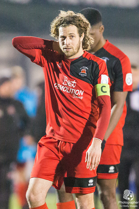 Sergio Torres (Cast) (Eastbourne) during Parafix Sussex Senior Cup Quarter Final between Eastbourne Borough FC & Crawley Town FC on Tuesday 09 January 2018 at Priory Lane. Photo by Jane Stokes (DJ Stotty Images)