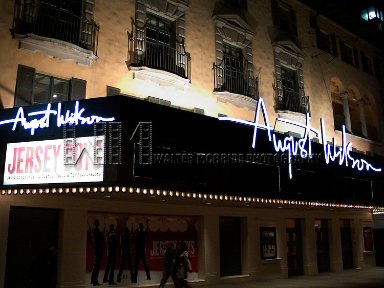 Musical JERSEY BOYS (based on the story of Frankie Valli and the Four Seasons), has been renamed the AUGUST WILSON THEATRE in New York City..October 22, 2005.© Walter McBride /  .