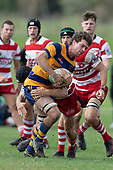 Counties Manukau Counties Power Game of the week, Karaka vs Patumahoe Under 85 kg, played at Karaka Sports Park on Saturday April 21st 2018. Karaka won the game 18 - 10.<br /> Photo by Richard Spranger.