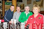..CUPPA: Drinking plenty of tea at 6am on Saturday morning  as Ireland took on Wales in the quarter final of the Rugby World Cup in Ders the Mall, Tralee l-r: James Kelliher,John O'Callaghan, Ned O'Neill and Bridie O'Callaghan