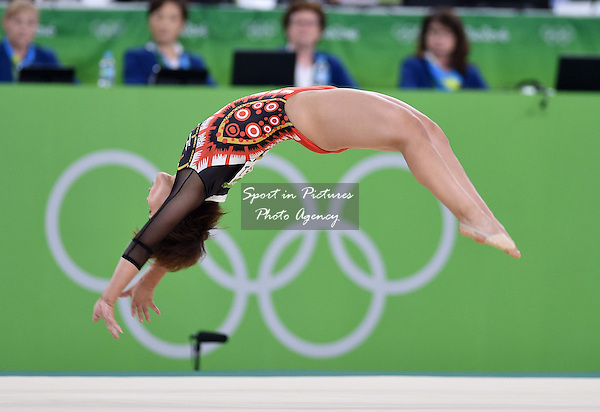 Mai Murakami (JPN). Womens individual floor exercise. Artistic Gymnastics. Rio Olympic arena. Olympic Park. Rio de Janeiro. Brazil. 16/08/2016. ~ MANDATORY CREDIT Garry Bowden/SIPPA - NO UNAUTHORISED USE - +44 7837 394578