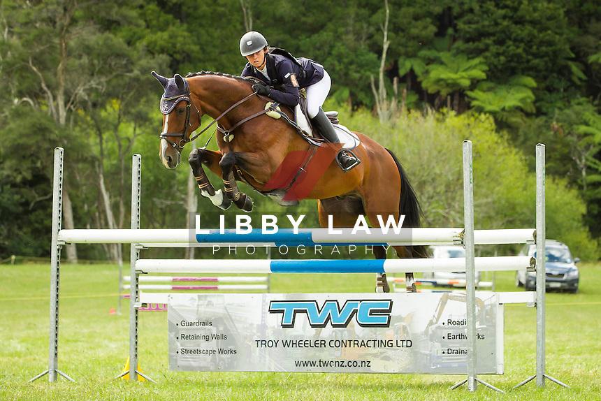 NZL-Samantha Felton (RICKER RIDGE PICO BOO)  INTERIM-5TH: TROY WHEELER CONTRACTING CNC2*PLUS: 2014 NZL-Troy Wheeler Contracting Springbush Horse Trial (Saturday 15 February) CREDIT: Libby Law COPYRIGHT: LIBBY LAW PHOTOGRAPHY - NZL
