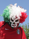 11 June 2006: A Mexico fan. Mexico played Iran at the Frankenstadion in Nuremberg, Germany in match 7, a Group D first round game, of the 2006 FIFA World Cup.