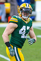 Green Bay Packers linebacker Jake Ryan (47) during a National Football League game against the Tampa Bay Buccaneers on December 2nd, 2017 at Lambeau Field in Green Bay, Wisconsin. Green Bay defeated Tampa Bay 26-20. (Brad Krause/Krause Sports Photography)