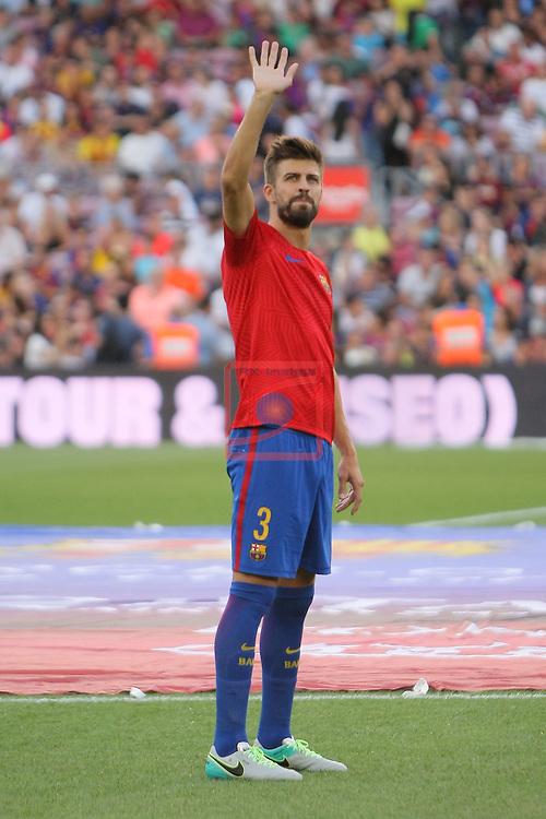 League Santander 2016/2017.<br /> 51e Trofeu Joan Gamper.<br /> FC Barcelona vs UC Sampdoria: 3-2.<br /> Gerard Pique.
