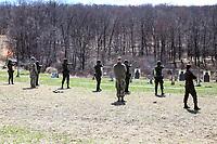 WEST POINT, EUA, 10/04/2019 - COMPETIÇÃO-MILITAR - Soldados da equipe do Brasil durante preparação para o Sandhurst West Point 2019 na U.S Military Academy na cidade de West Point nos Estados Unidos nesta quarta-feira, 10. (Foto: William Volcov/Brazil Photo Press/Folhapress)