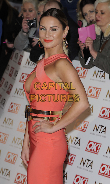 LONDON, ENGLAND - JANUARY 21: Sam Faiers attends the National TV Awards 2015, The O2 Arena, Millennium Way, Peninsula Square, Greenwich, on Wednesday January 21, 2015 in London, England, UK. <br /> CAP/CAN<br /> &copy;Can Nguyen/Capital Pictures