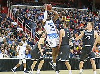 Washington, DC - March 11, 2018: Rhode Island Rams guard Stanford Robinson (13) takes a shot during the Atlantic 10 championship game between Rhode Island and Davidson at  Capital One Arena in Washington, DC.   (Photo by Elliott Brown/Media Images International)