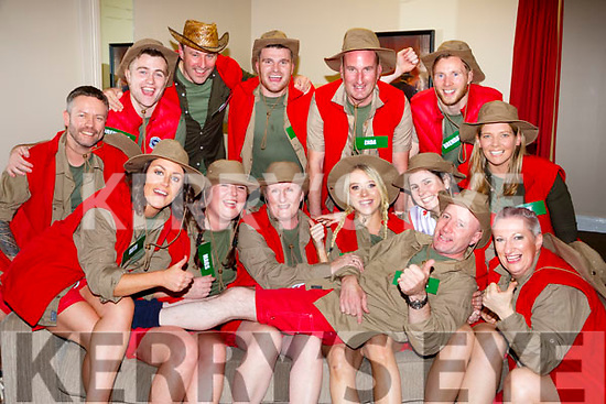 Michael Healy Rae and t he contestants at the Killarney I'm a Celebrity in the INEC on Thursday night front row l-r: Ruth Allen, Mags Marty, Mary O'Connor, Liadh Tobin, Breda O'Mahony, Mary Brosnan and Emma Philips, Back row: Brendan Fuller, Rory Darcy, Gavin O'Leary, Enda Walsh, Brendan Kealy