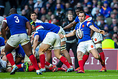 10th February 2019, Twickenham Stadium, London, England; Guinness Six Nations Rugby, England versus France; Morgan Parra of France clears the ball