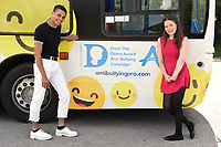 Layton Williams and Juliette Burton<br /> at the launch of anti-bullying #BeNiceBus with The Diana Award, Dulwich, London. <br /> <br /> <br /> &copy;Ash Knotek  D3275  07/06/2017