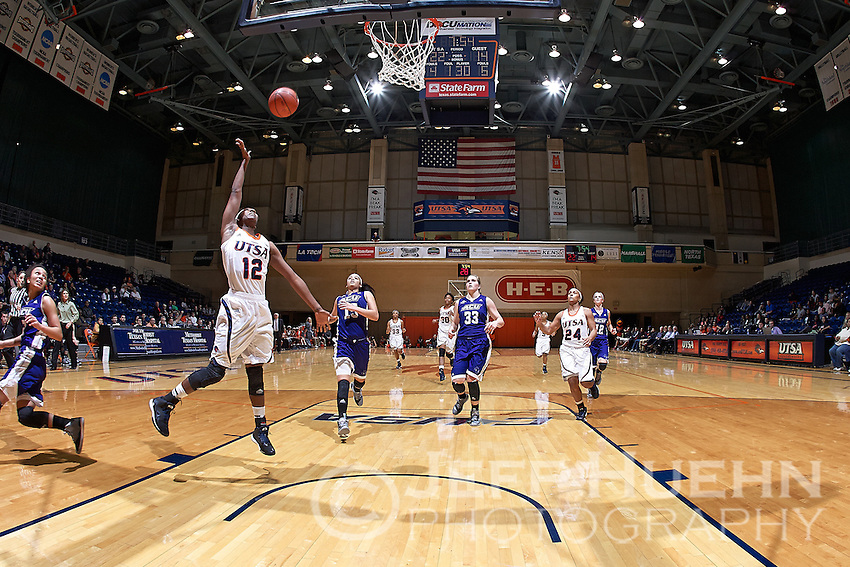 SAN ANTONIO, TX - NOVEMBER 19, 2014: The Abilene Christian University Wildcats fall to the University of Texas at San Antonio Roadrunners 70-57 at the UTSA Convocation Center. (Photo by Jeff Huehn)