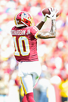 Landover, MD - September 16, 2018: Washington Redskins wide receiver Paul Richardson (10) goes up for a catch during game between the Indianapolis Colts and the Washington Redskins at FedEx Field in Landover, MD. The Colts defeated the Redskins 21-9.(Photo by Phillip Peters/Media Images International)