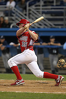 Batavia Muckdogs third baseman Patrick Wisdom #35 during an exhibition game against the Newark Pilots of the Perfect Game Collegiate Baseball Lague at Dwyer Stadium on June 15, 2012 in Batavia, New York.  Batavia defeated Newark 8-0.  (Mike Janes/Four Seam Images)