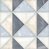 Christopher 3, a hand-cut stone mosaic shown in honed Allure, Celeste, Dolomite, and Cloud Nine, is part of the Illusions™ Collection by New Ravenna.