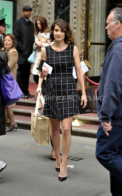 WWW.ACEPIXS.COM<br /> <br /> April 24 2015, New York City<br /> <br /> Actress Cobie Smulders leaving the second annual luncheon: 'Power of Women: New York' event at Cipriani on April 24 2015 in New York City.<br /> <br /> <br /> Please byline: Curtis Means/ACE Pictures<br /> <br /> ACE Pictures, Inc.<br /> www.acepixs.com, Email: info@acepixs.com<br /> Tel: 646 769 0430