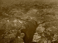 high historical oblique aerial overview of Washington, DC, 1935