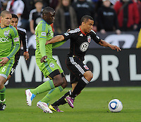 DC United forward Charlie Davies (9)   DC United defeated The Seattle Sounders 2-1 at  RFK Stadium, Wednesday May 4, 2011.