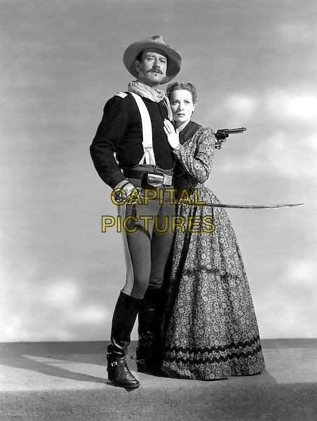John Wayne With Maureen O'Hara.in Rio Bravo.*Filmstill - Editorial Use Only*.CAP/PLF.Supplied by Capital Pictures.