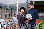 Sean Kennedy Annascaul, who has signed for Sunderland Soccer club pictured with his mother Bride