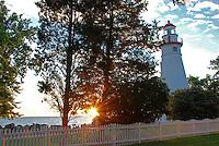 Sun Glow at Marblehead Lighthouse, Ohio