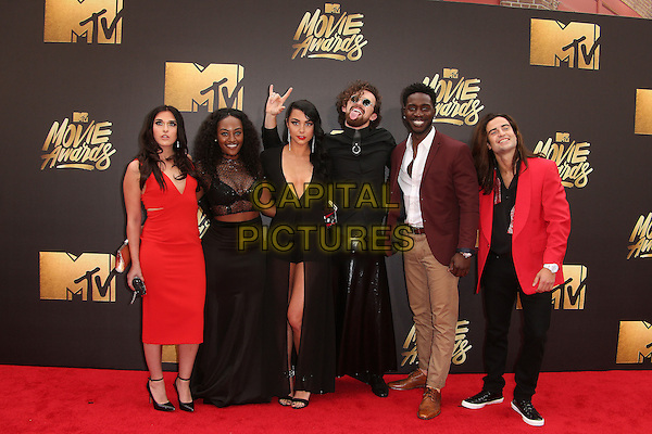 09 April 2016 - Burbank, California - Sabrina Kennedy, Kailah Casillas, Chris Hall, CeeJai' Jenkins, Dean Bart-Plange, and Dione Mariani. 2016 MTV Movie Awards held at Warner Bros. Studios. <br /> CAP/ADM/SAM<br /> &copy;SAM/ADM/Capital Pictures