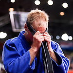 Engeland, London, 2 Augustus 2012.Olympische Spelen London.Judoka Elco van der Geest verliest zijn eerste partij van Targir Khaibulaev uit Rusland