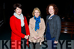 Katie McCarthy (Tralee), Mary Jo Stanton (Fenit) and Karen Soffe (Tralee) attending the Pieta House Christmas Carol Extravagaza Concert in St Brendans Church on Sunday night.