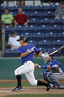 Mike Trout of the Rancho Cucamonga Quakes during game against the Inland Empire 66'ers at The Epicenter in Rancho Cucamonga,California on August 7, 2010. Photo by Larry Goren/Four Seam Images