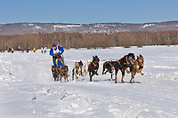 Egil Ellis races in the 2008 Open North American Championship sled dog race, third heat, March 16, 2008.