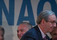 BRASILIA, DF, 17.11.2015 - PMDB-CONGRESSO- O presidente da Câmara, Eduardo Cunha, durante a abertura do Congresso da Fundação Ulysses Guimarães, no Hotel Nacional, nesta terça-feira, 17.(Foto:Ed Ferreira / Brazil Photo Press)