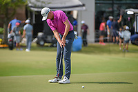 Andrew Wise (USA) watches his putt on 18 during round 3 of the AT&amp;T Byron Nelson, Trinity Forest Golf Club, at Dallas, Texas, USA. 5/19/2018.<br /> Picture: Golffile | Ken Murray<br /> <br /> <br /> All photo usage must carry mandatory copyright credit (&copy; Golffile | Ken Murray)