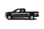 Side Profile View of 2015 Ford F-150 XLT SuperCab 2 Door Truck Stock Photo