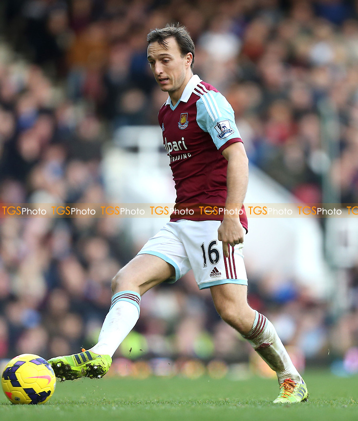 Mark Noble of West Ham - West Ham United vs West Bromwich Albion, Barclays Premier League at Upton Park, West Ham - 28/12/13 - MANDATORY CREDIT: Rob Newell/TGSPHOTO - Self billing applies where appropriate - 0845 094 6026 - contact@tgsphoto.co.uk - NO UNPAID USE