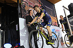 Luke Durbridge (AUS) Orica-Scott team on stage at the Team Presentation in Burgplatz Dusseldorf before the 104th edition of the Tour de France 2017, Dusseldorf, Germany. 29th June 2017.<br /> Picture: Eoin Clarke | Cyclefile<br /> <br /> <br /> All photos usage must carry mandatory copyright credit (&copy; Cyclefile | Eoin Clarke)