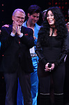 Bob Mackie and Cher during the Broadway Opening Night Curtain Call of 'The Cher Show'  at Neil Simon Theatre on December 3, 2018 in New York City.