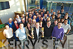 Edmond Harty and Staff of Dairymaster celebrating winning the International and Overall awards at the Ernst & Young Entrepreneur awards at their plant in Causeway on Friday.