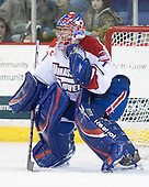 Marc Boulanger (Lowell - 1) - The visiting Northeastern University Huskies defeated the University of Massachusetts-Lowell River Hawks 3-2 with 14 seconds remaining in overtime on Friday, February 11, 2011, at Tsongas Arena in Lowelll, Massachusetts.
