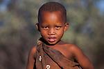 Botswana, Kalahari, bushman (san) boy, portrait